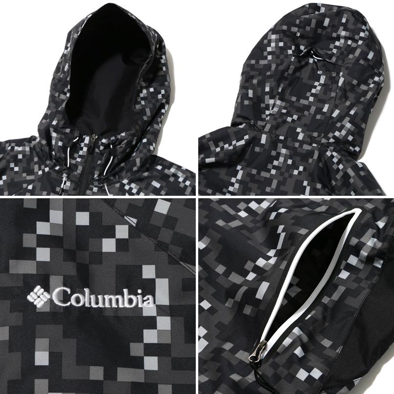 Columbia×ATMOS LAB PLINY PEAK JACKET (콜롬비아 × 엣 모스 랩 프리 니 첨단 재킷) BLACK PATTERN 16SS-S