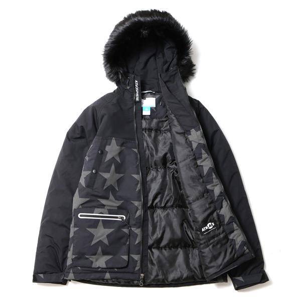 Columbia×ATMOS LAB Ferocious Storm Jacket (콜롬비아×아트모스라보페로샤스스토무쟈켓트) BLACK PATTERN 15 FW-S