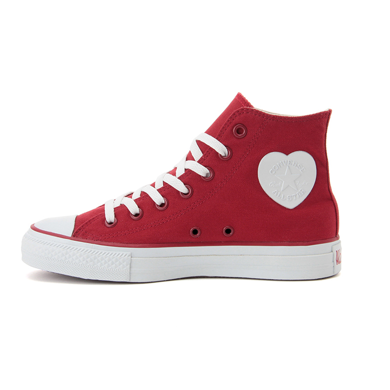 converse shoes red heart