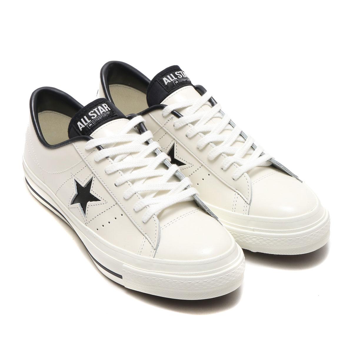 CONVERSE ONE STAR J(コンバース ワン スター J) ホワイト/ブラック【メンズ レディース スニーカー】17FW-I