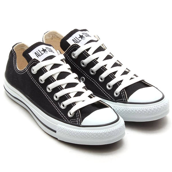 converse all star canvas ox black