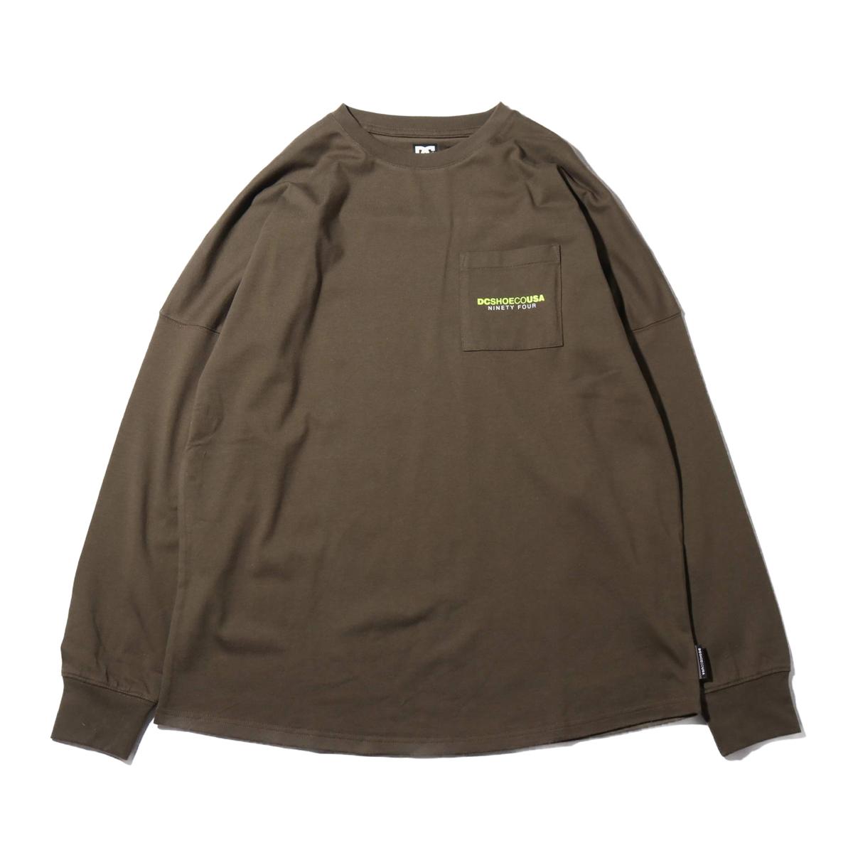 DC SHOES 19 BACKTAPE LS(ディーシー シューズ バックテープ ロングスリーブ)OLIVE【メンズ 長袖Tシャツ】19FW-I