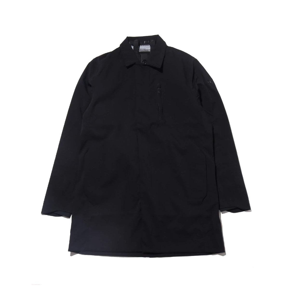 DESCENTE ALLTERRAIN HARD SHELL BAL COLLAR COAT (デサント オルテライン ハード シェル ステンカラー コート)BLACK【メンズ コート】18FA-I