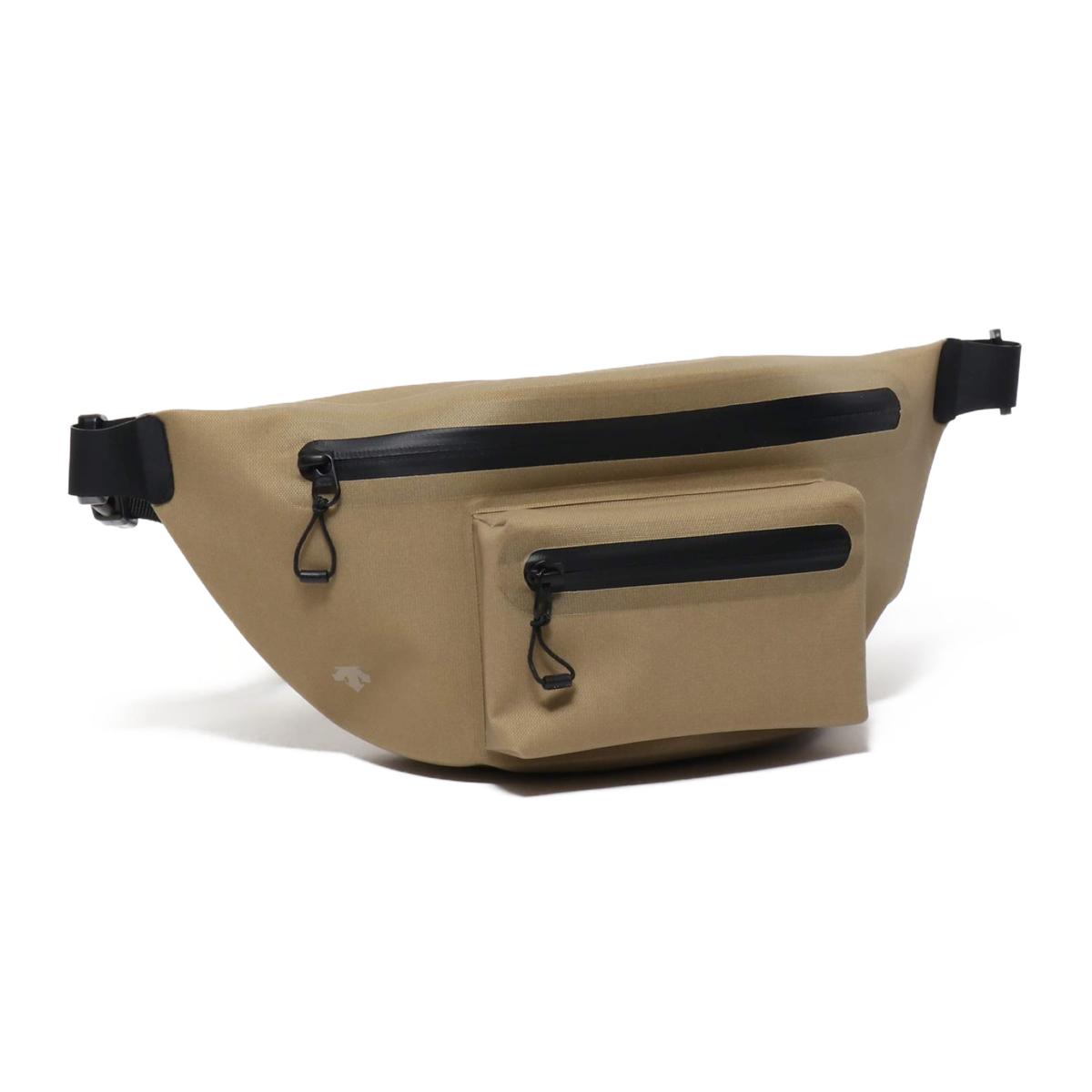 DESCENTE WAIST BAG(デサント ウエスト バッグ)BEIGE【メンズ レディース ウエストバッグ】18SU-I
