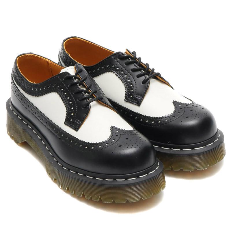 Dr.Martens 3989 BROGUE SHOE(ドクターマーチン 3989 ブローグ シューズ)BLACK&WHITE【メンズ レディース ブーツ】16AW-I