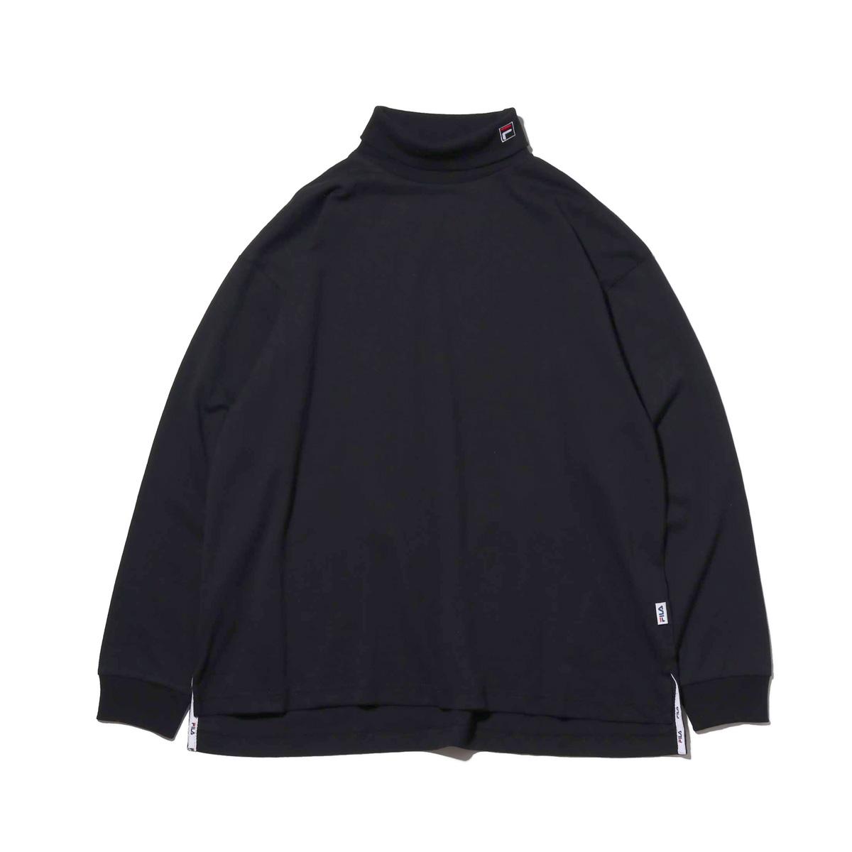 FILA Turtle neck shirt (フィラ タートルネック)BLACK【メンズ 長袖Tシャツ】18FW-I