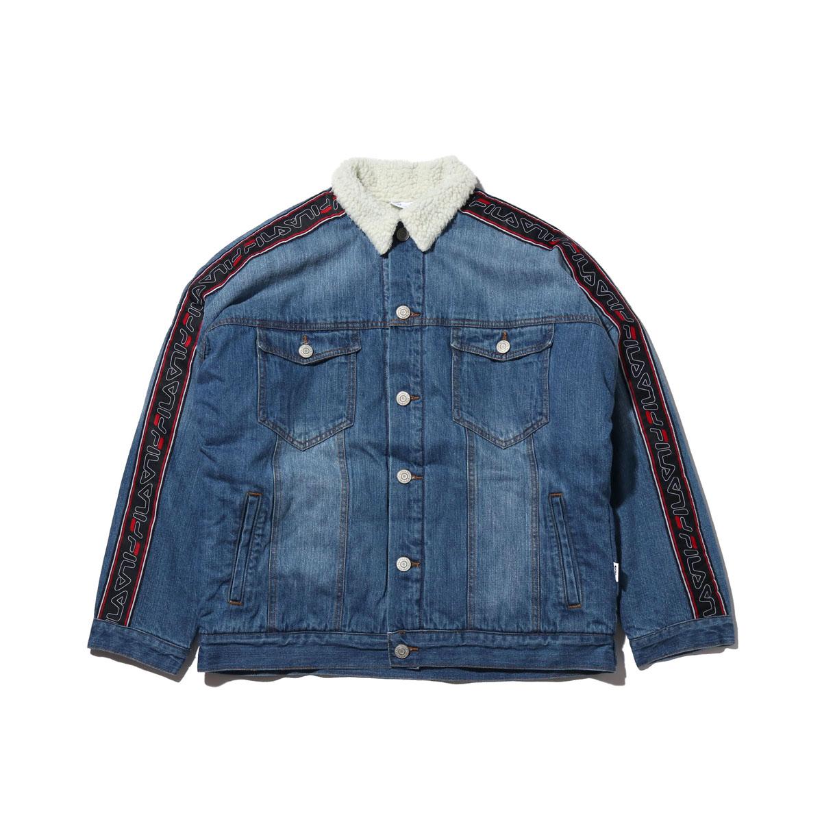 FILA Denim boa Jacket (フィラ デニム ボア ジャケット)NAVY【メンズ ジャケット】18FW-I