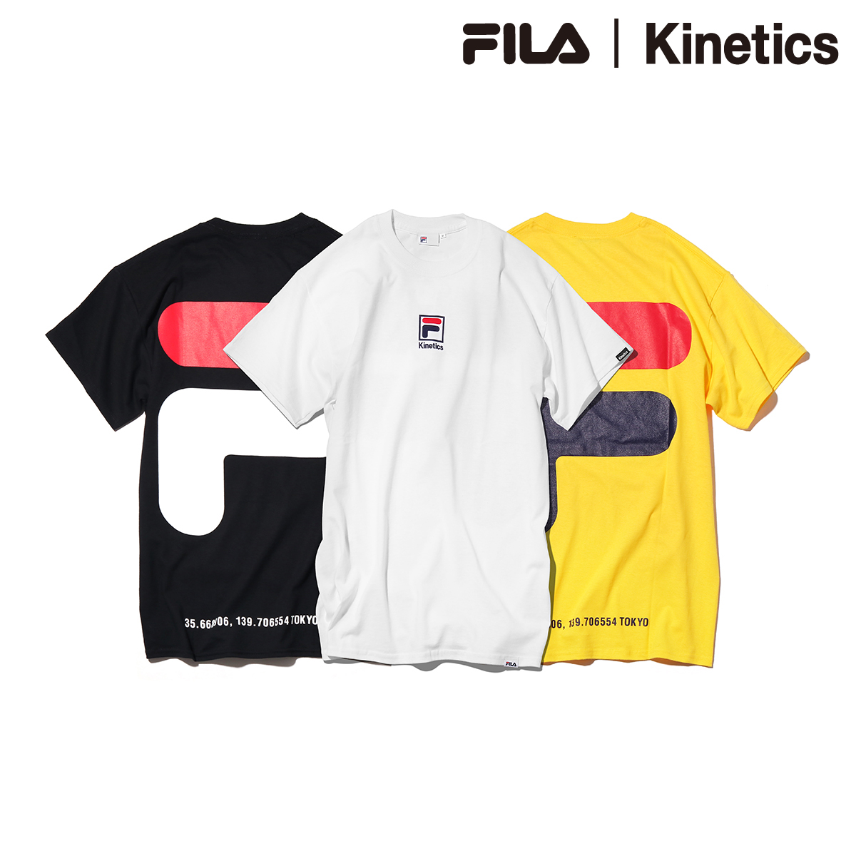 FILA X Kinetics BIG HOUSE LOGO TEE (Fila KINETIQUE's T-shirt) (three colors  of development) 18SS-I
