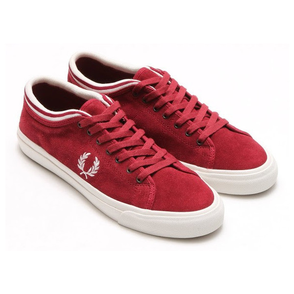 FRED PERRY KENDRICK TIPPED (Fred Kendrick typed) MAROON/PORCELAIN 15FW-I