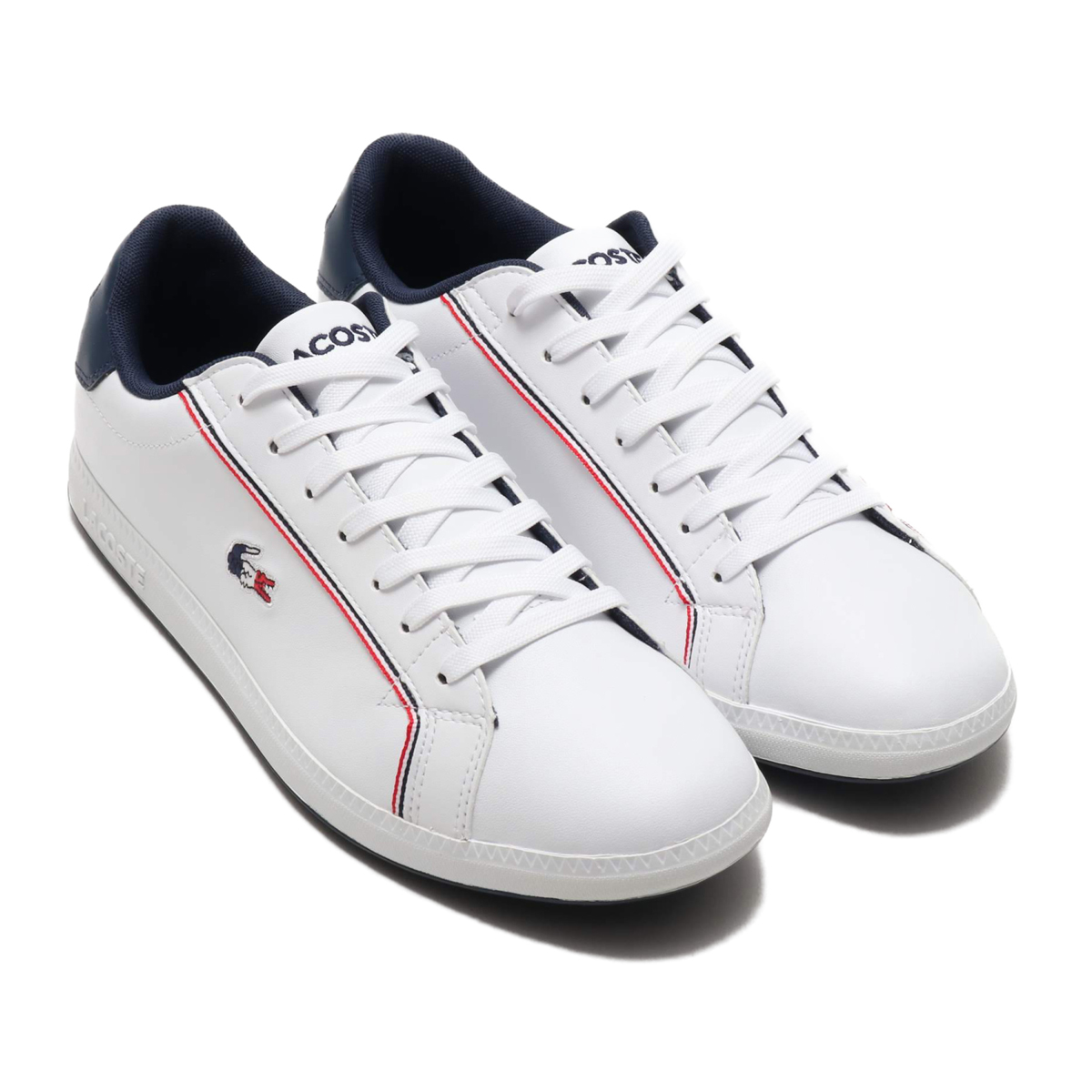 LACOSTE GRADUATE 119 3 (ラコステ グラジュエート 119 3)WHT/NVY/RED【メンズ スニーカー】19SP-I