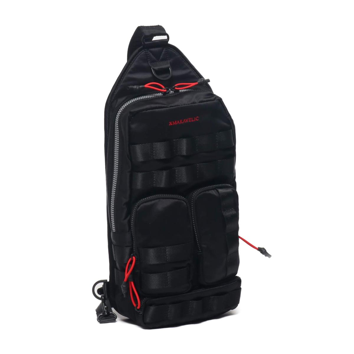 MAKAVELIC ASSASSIN BODY BAG(マキャベリック アサシン ボディ バッグ)BLACK【メンズ レディース ボディバッグ】20SP-I