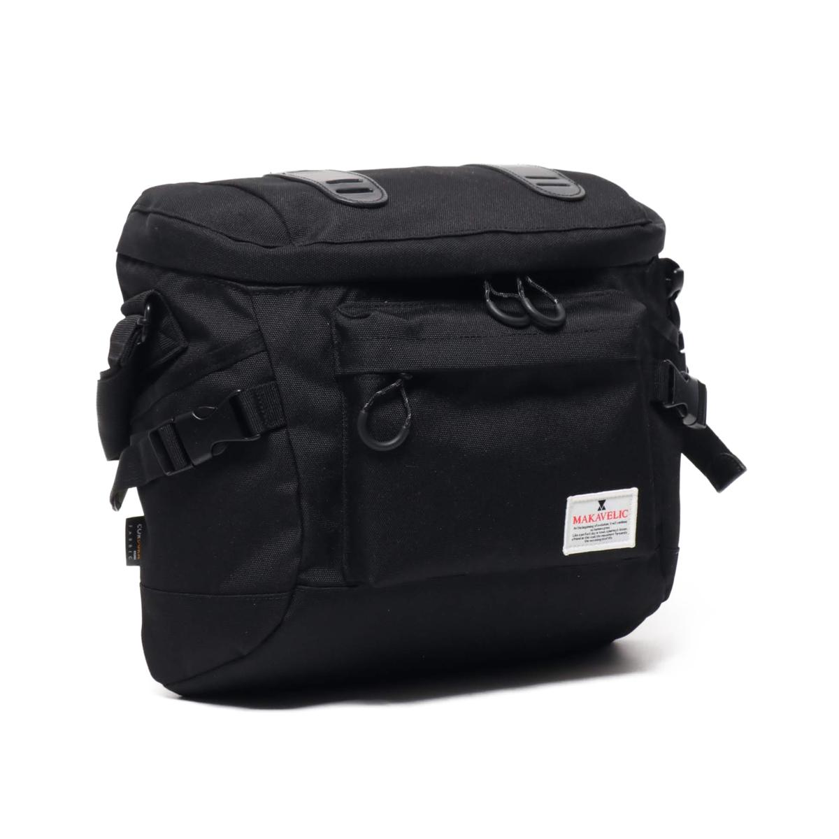【エントリーで全品10倍】MAKAVELIC TRUCS MOTIVE SHOULDER BAG(マキャベリック トラックス モーティブ ショルダー バッグ)BLACK【メンズ ショルダーバッグ】20SP-I