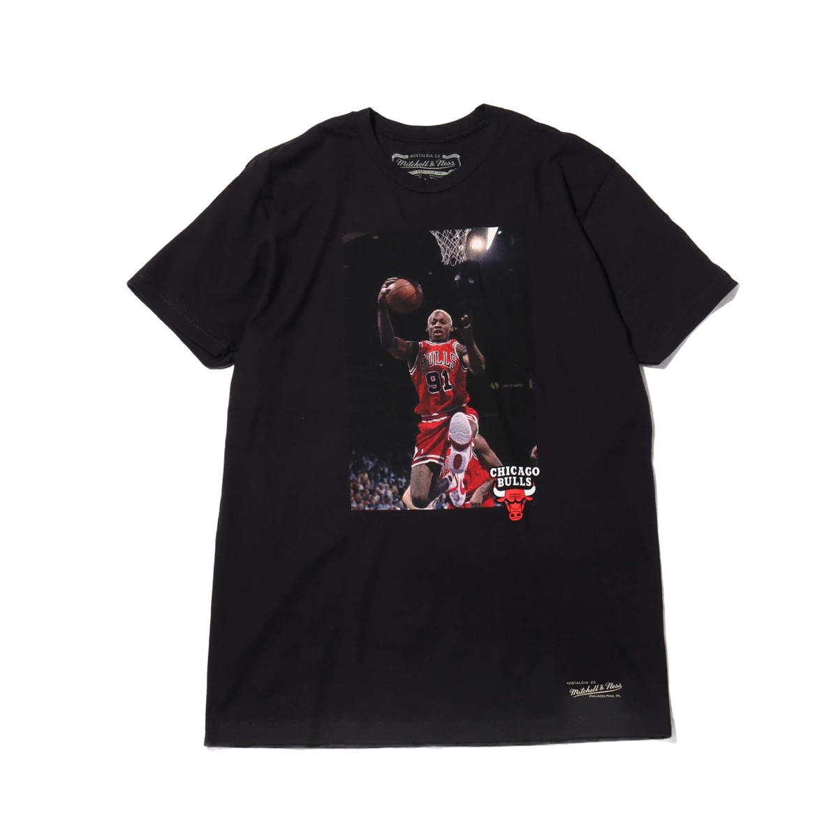 Mitchell & Ness Off Court Tshirts(ミッチェルアンドネス オフコート Tシャツ)BLACK【メンズ 半袖Tシャツ】19FW-I