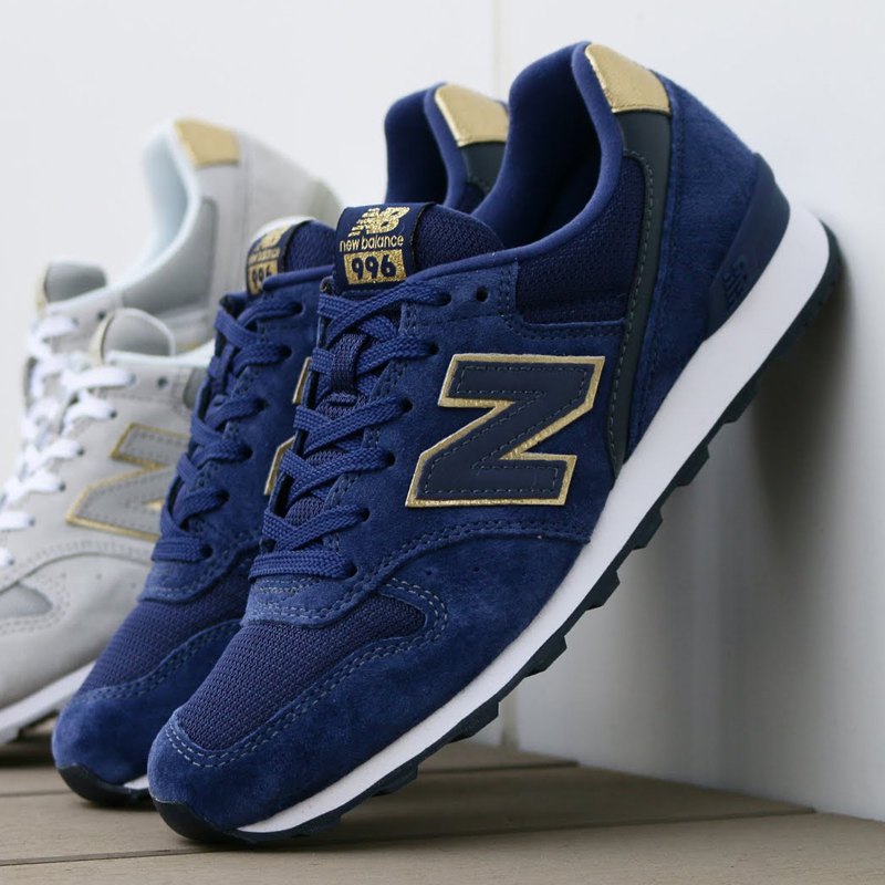 new balance wr996 bleu gold