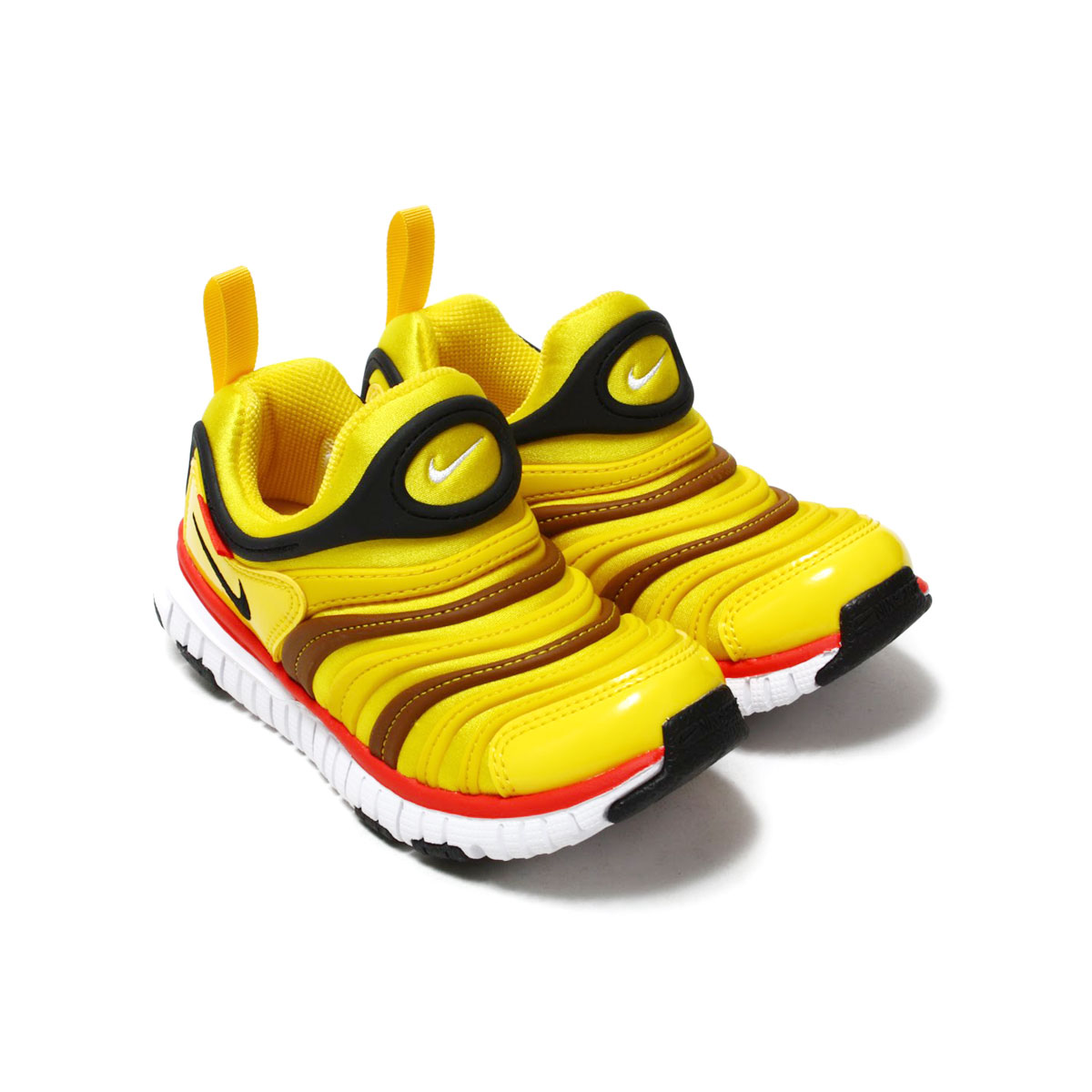NIKE DYNAMO FREE (PS)(ナイキ ダイナモ フリー PS)TOUR YELLOW/BLACK-SPEED RED-ALE BROWN【キッズ スニーカー】18SP-I