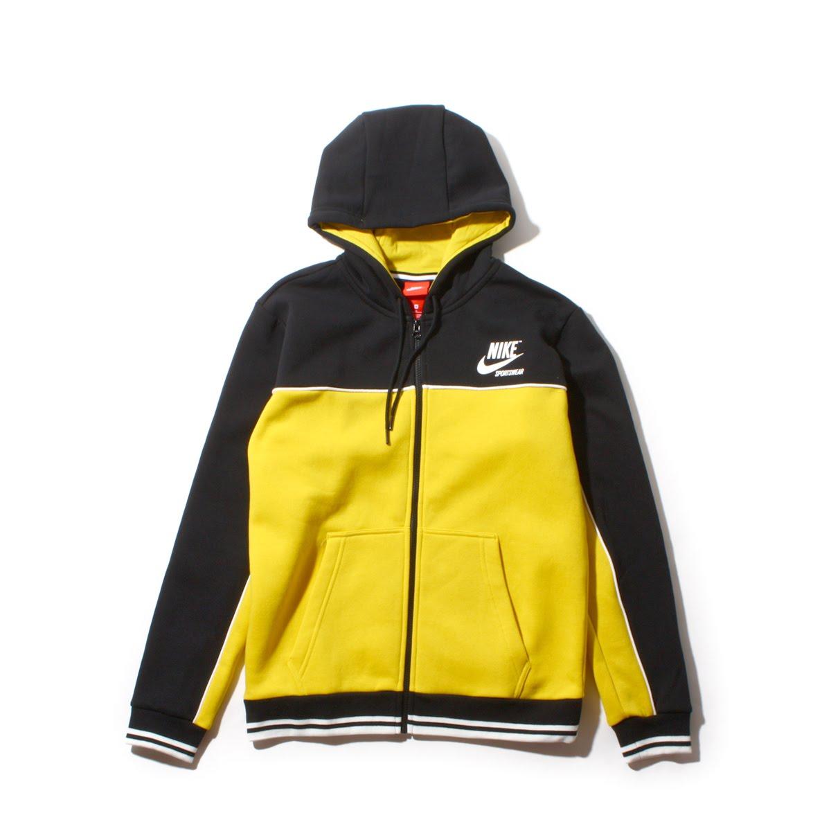 black and yellow nike hoodie