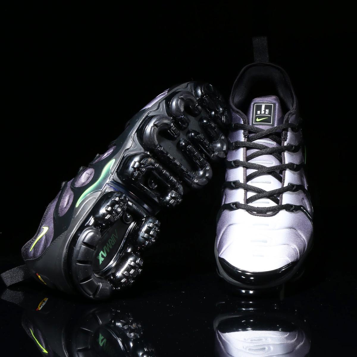 NIKE AIR VAPORMAX PLUS (ナイキ エア ベイパーマックス プラス) BLACK/VOLT-WHITE【メンズ レディース スニーカー】18SU-S