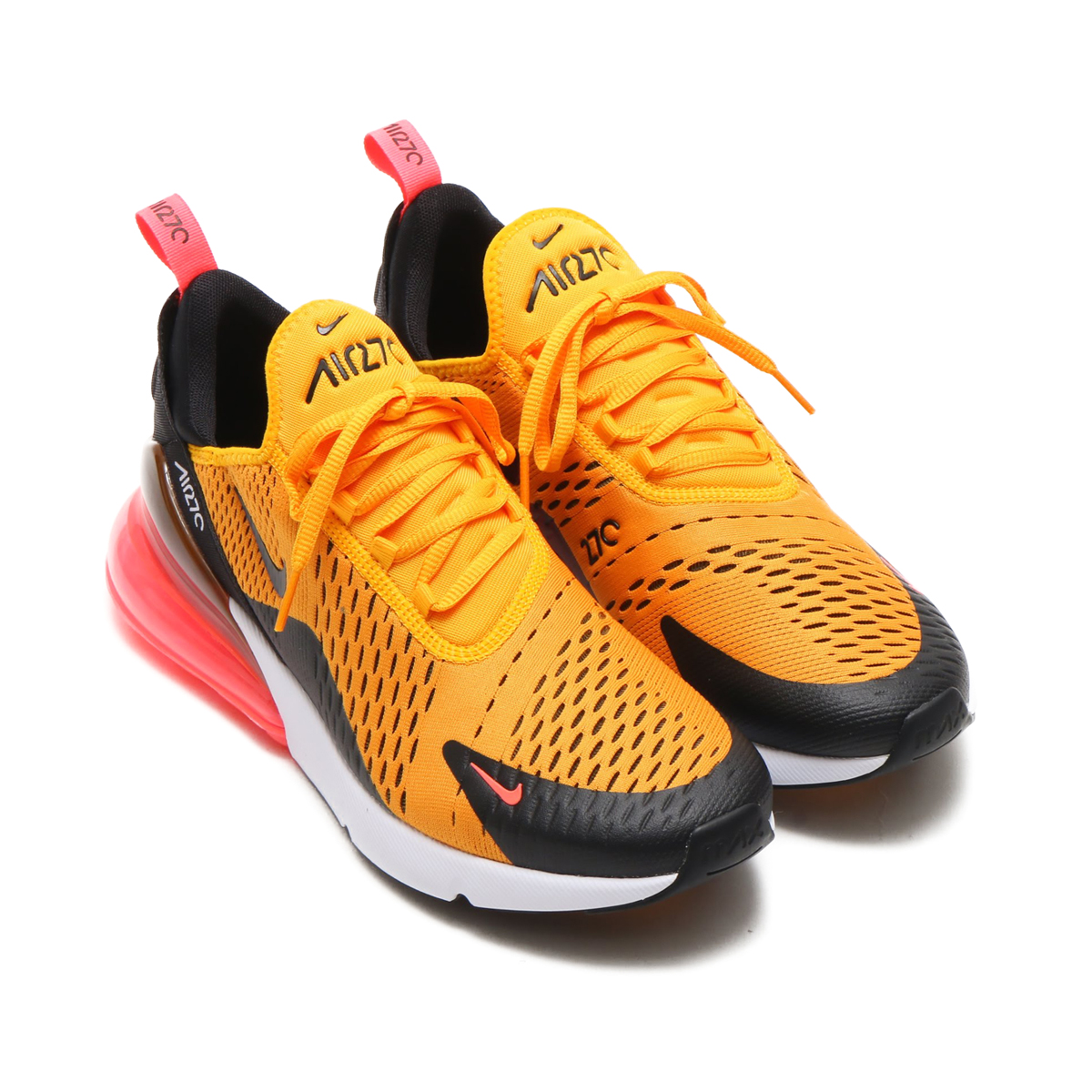 buy online 73c30 90cfd NIKE AIR MAX 270 (ナイキ エア マックス 270) BLACK/UNIVERSITY GOLD-HOT  PUNCH-WHITE【メンズ レディース スニーカー】18SP-S|atmos-tokyo
