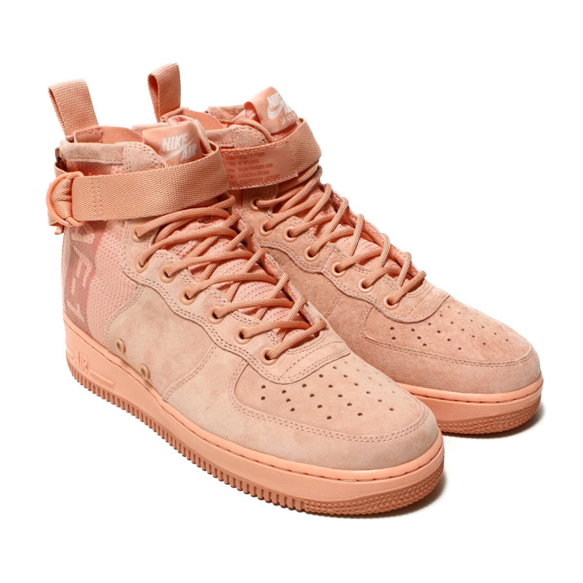 NIKE SF AF1 MID SUEDE(ナイキ SF AF 1 ミッド スエード)CORAL STARDUST/RED STARDUST【メンズ レディース スニーカー】18SP-I