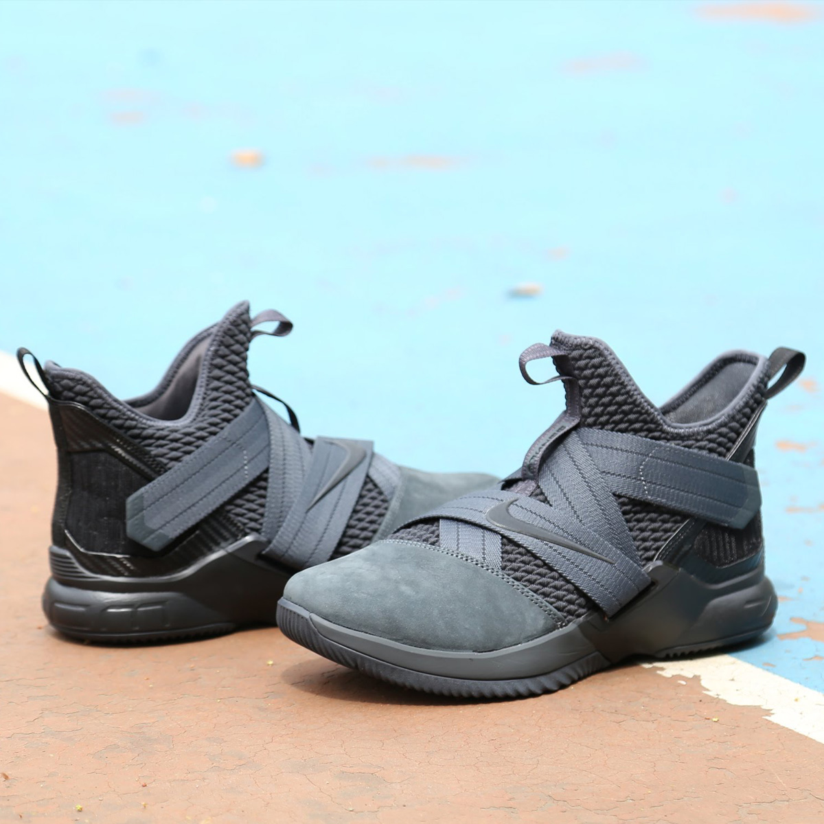 NIKE LEBRON SOLDIER XII SFG EP (ナイキ レブロン ソルジャー XII SFG EP) ANTHRACITE/ANTHRACITE-BLACK【メンズ スニーカー】18SU-S