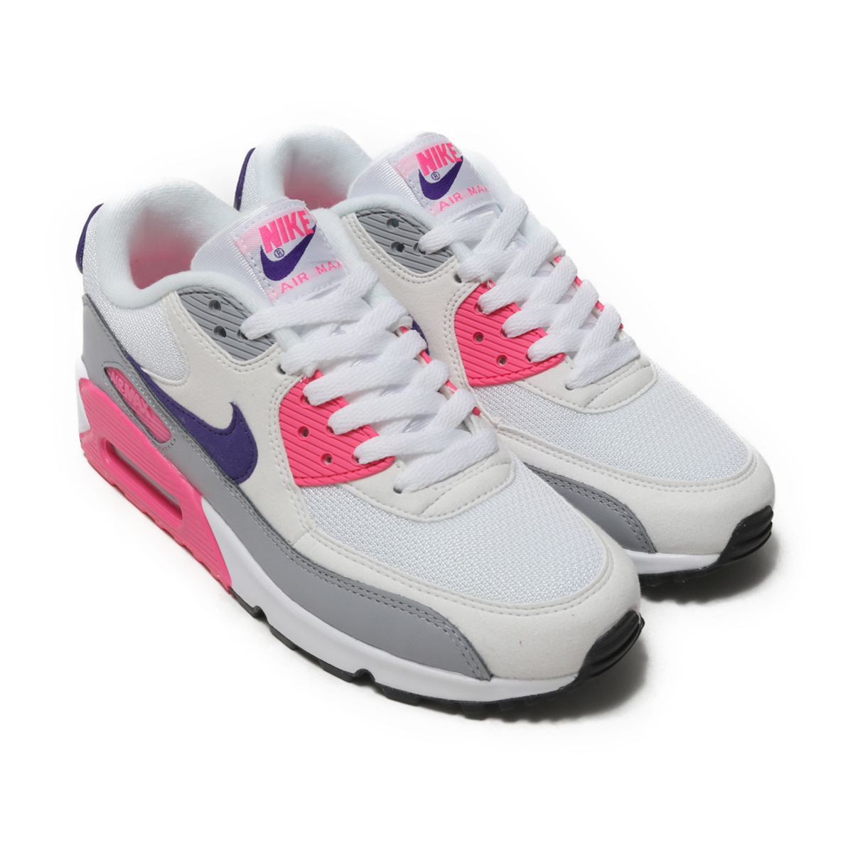 Nike Air Max 90 White Pink Gray Black Women Shoes | Nike Air