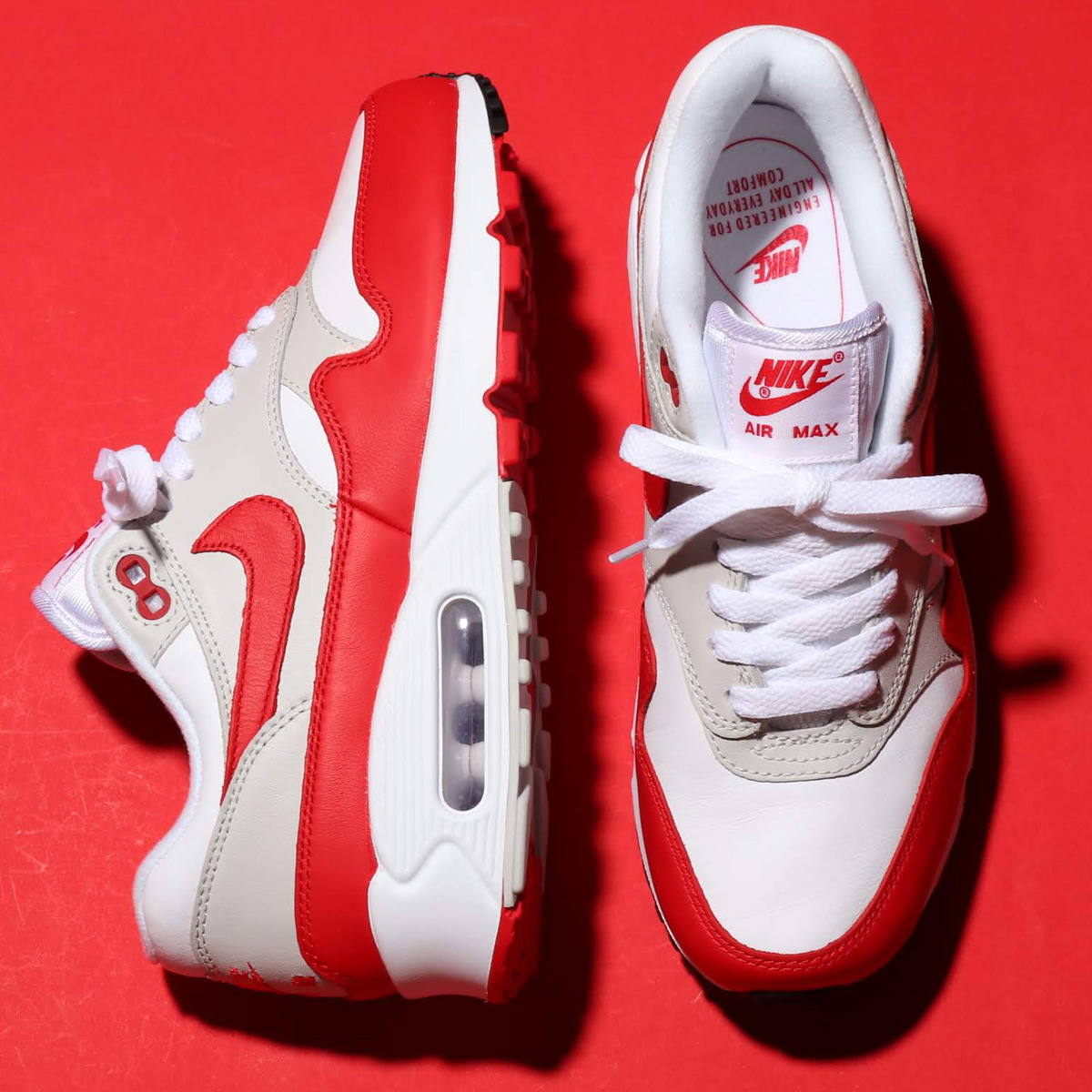 最新入荷 NIKE W AIR MAX 90/1(ナイキ 90 ウィメンズ W AIR エア マックス 90 1)WHITE/UNIVERSITY RED-NEUTRAL GREY-BLACK【メンズ レディース スニーカー】18FA-I, ふとんの青木:3fe724fb --- supercanaltv.zonalivresh.dominiotemporario.com