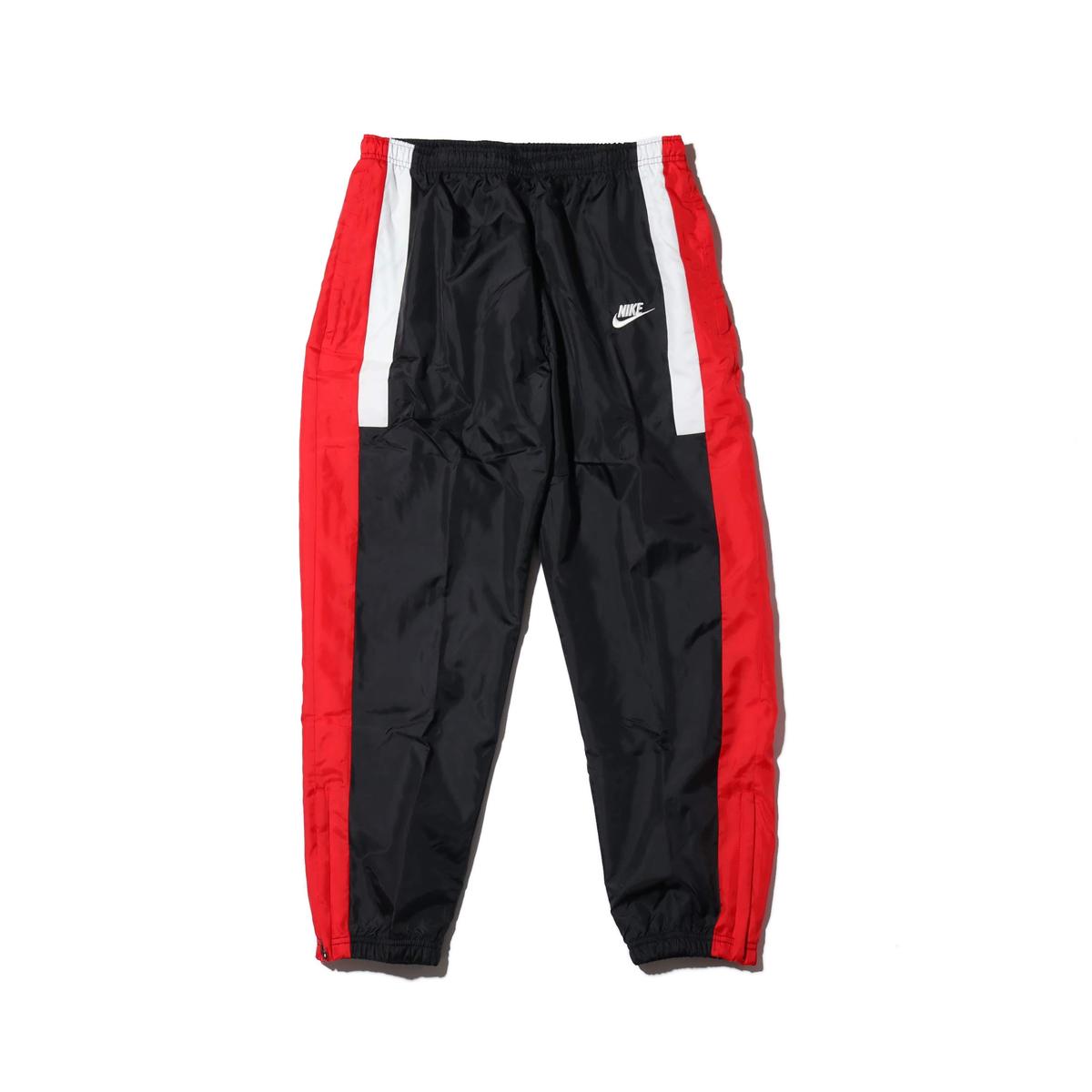 NIKE AS M NSW RE-ISSUE PANT WVN(ナイキ ウーブン リ イシュー パンツ)BLACK/UNIVERSITY RED/SUMMIT WHITE【メンズ パンツ】18HO-I