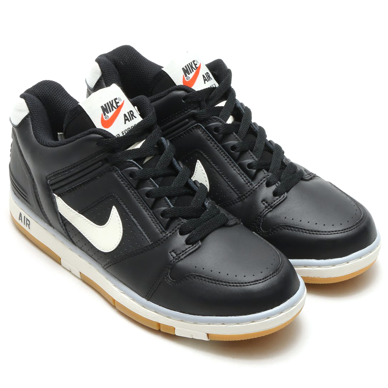 NIKE AIR FORCE II LOW (Nike Air Force 2 low) BLACK SAIL-WOLF GREY-GUM LIGHT  BROWN 16SP-I e8b02e194dd9