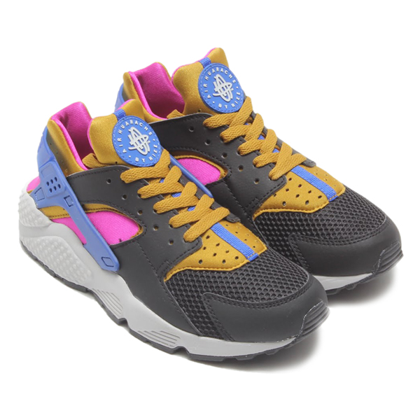 NIKE AIR HUARACHE(naikieaharachi)BLACK/BRONZING-FUCSIA FLASH/GAME ROYAL 15SP-I