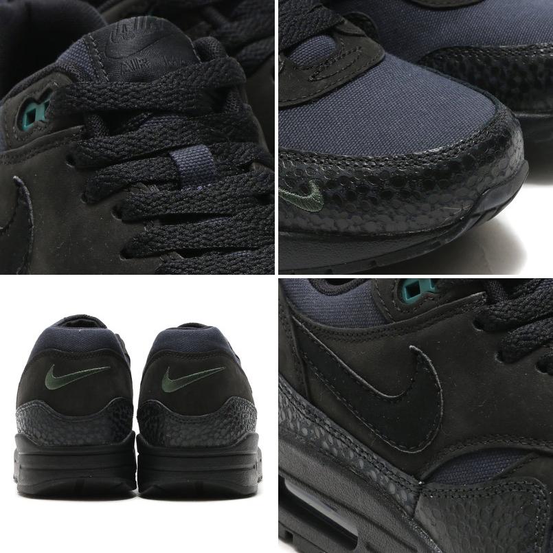 4f9a247e4c7 NIKE AIR MAX 1 PRM (Nike Air Max 1 Premium) BLACK BLACK-BONSAI 16SP-I  10P05Dec15