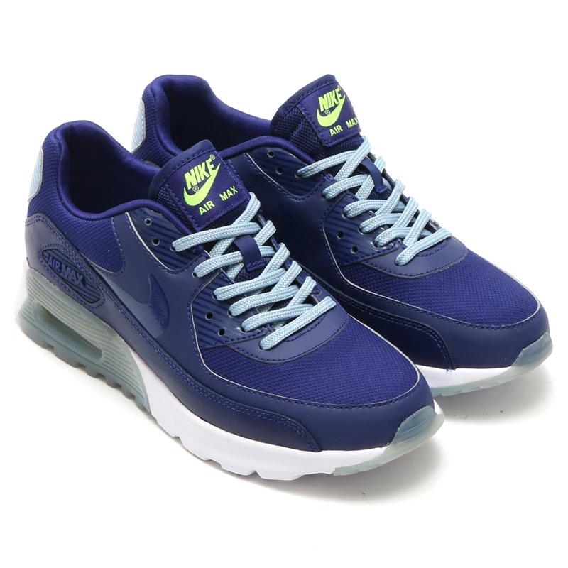 3ad89eef7868 atmos-tokyo  NIKE WMNS AIR MAX 90 ULTRA ESSENTIAL (Nike women s Air Max 90  ultra essential) ROYAL BLUE ROYAL BLUE-BLUE GREY-BRIGHT CRIMSON-GHOST GREEN- WHITE ...