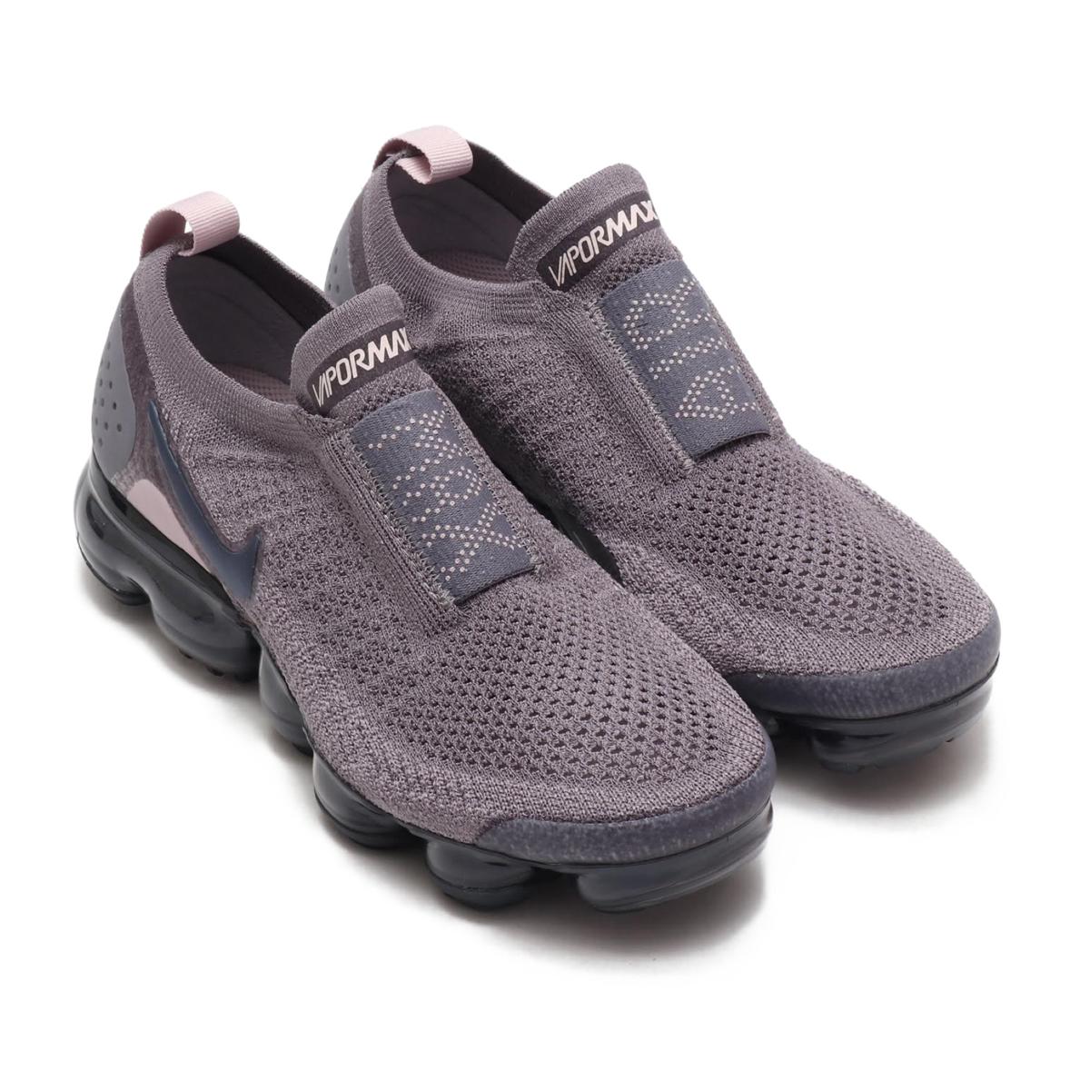 size 40 8d227 22f30 NIKE WMNS AIR VAPORMAX FK MOC 2 (Nike women air vapor max fried food knit  mock 2) GUNSMOKE/BLACKENED BLUE-THUNDER GREY 18FA-I