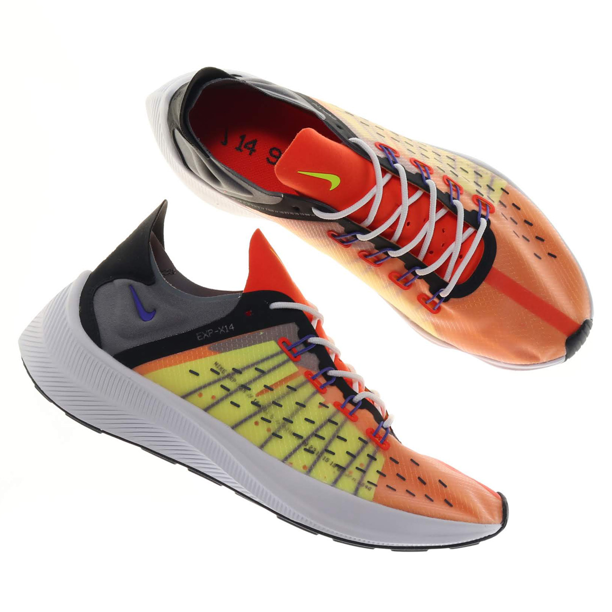 NIKE EXP-X14 (ナイキ EXP-X14)TEAM ORANGE/PERSIAN VIOLET-VOLT-BLACK【メンズ レディース スニーカー】18FA-I