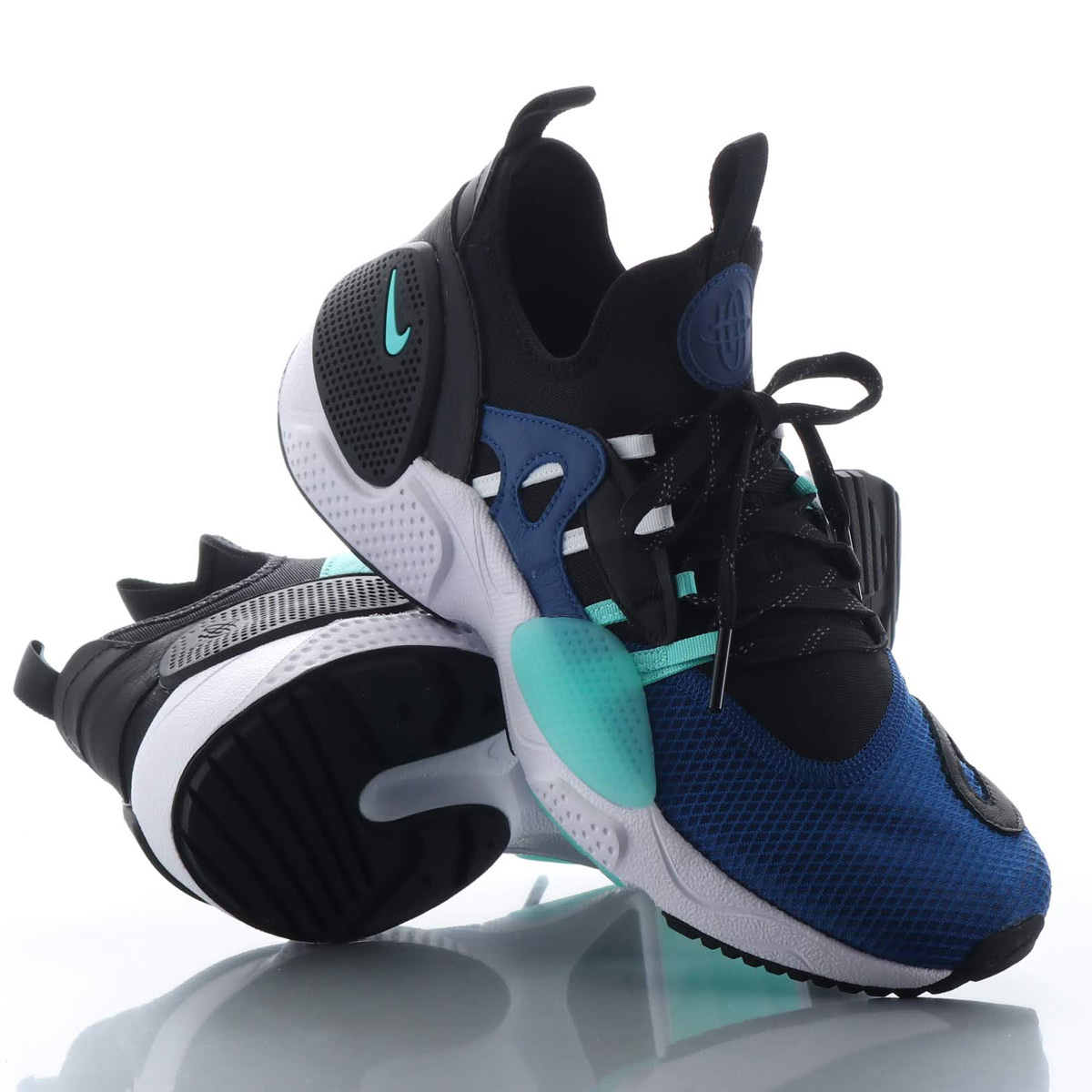 NIKE HUARACHE E.D.G.E. TXT HA (ナイキ ハラチ E.D.G.E. TXT HA) INDIGO FORCE/AURORA GREEN-BLACK-WHITE【メンズ スニーカー】18HO-S