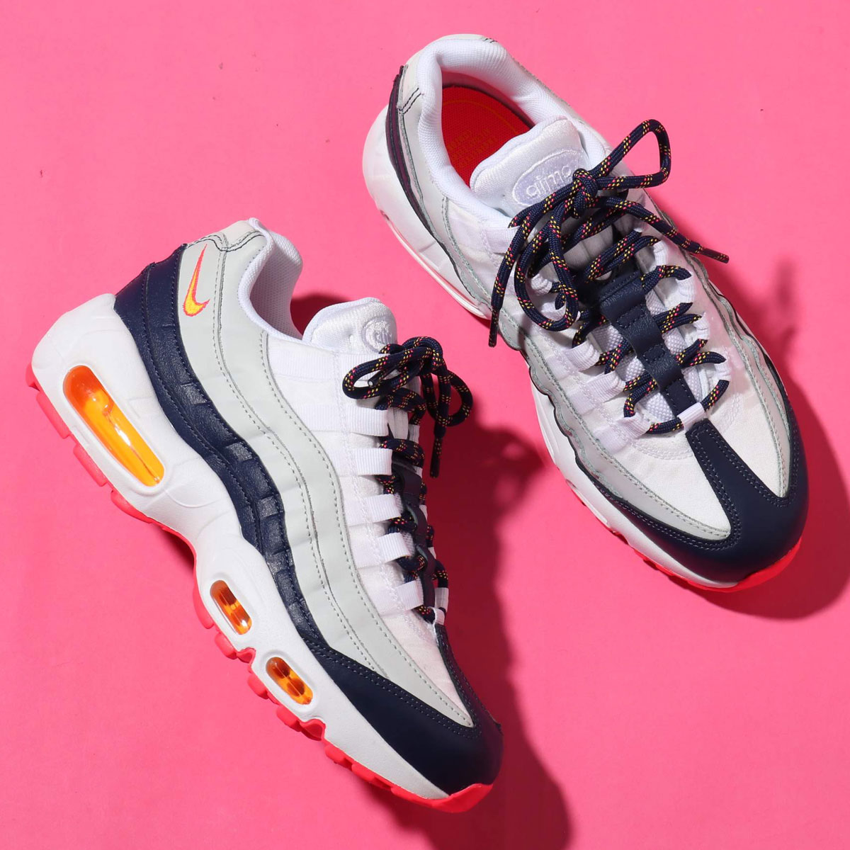 finest selection 5f07c f8e63 NIKE WMNS AIR MAX 95 (ナイキ ウィメンズ エア マックス 95) MIDNIGHT NAVY LASER ORANGE-PURE  PLATINUM  メンズ レディース スニーカー