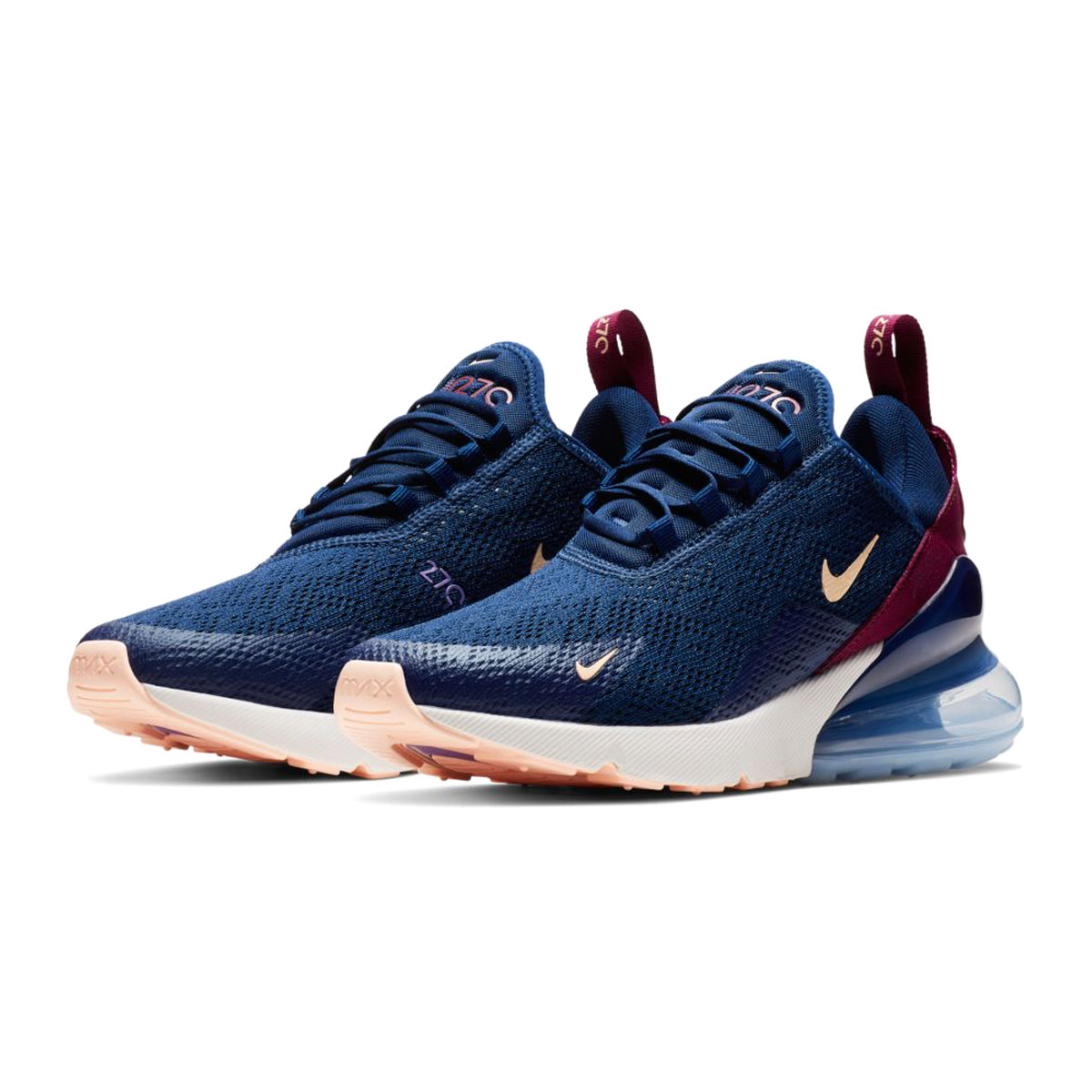 sports shoes 2a7c0 b4e2a NIKE W AIR MAX 270 (Nike women Air Max 270) BLUE VOID/CRIMSON TINT-TRUE  BERRY 19SP-I