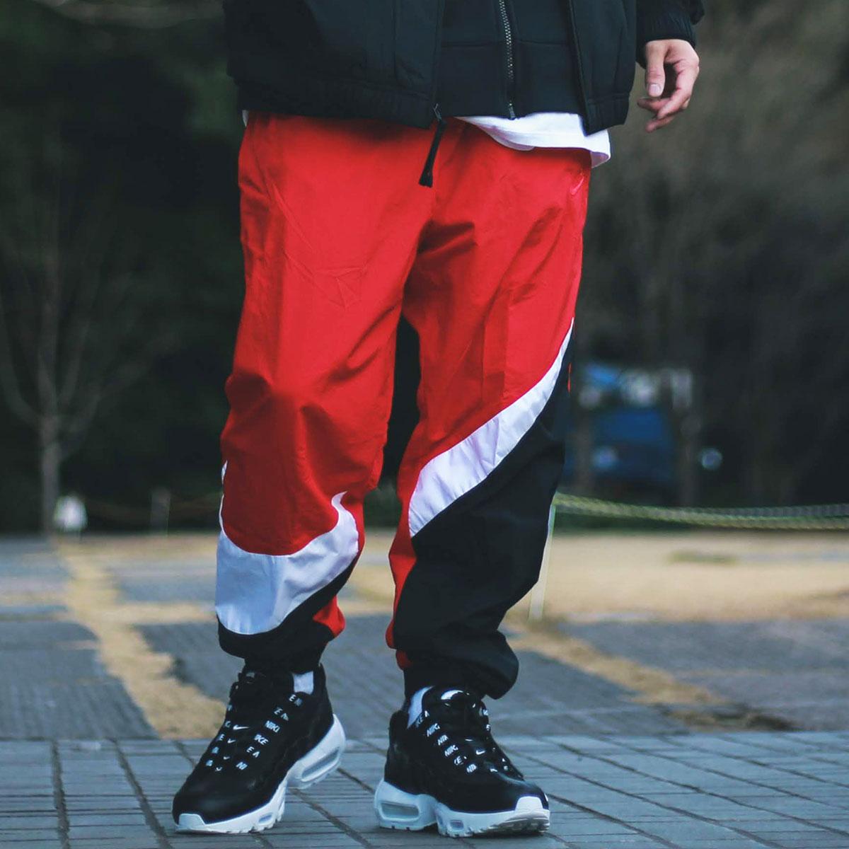 NIKE AS M NSW HBR PANT WVN STMT(ナイキ HBR STMT ウーブン パンツ)UNIVERSITY RED/WHITE/UNIVERSITY RED【メンズ パンツ】19SP-I