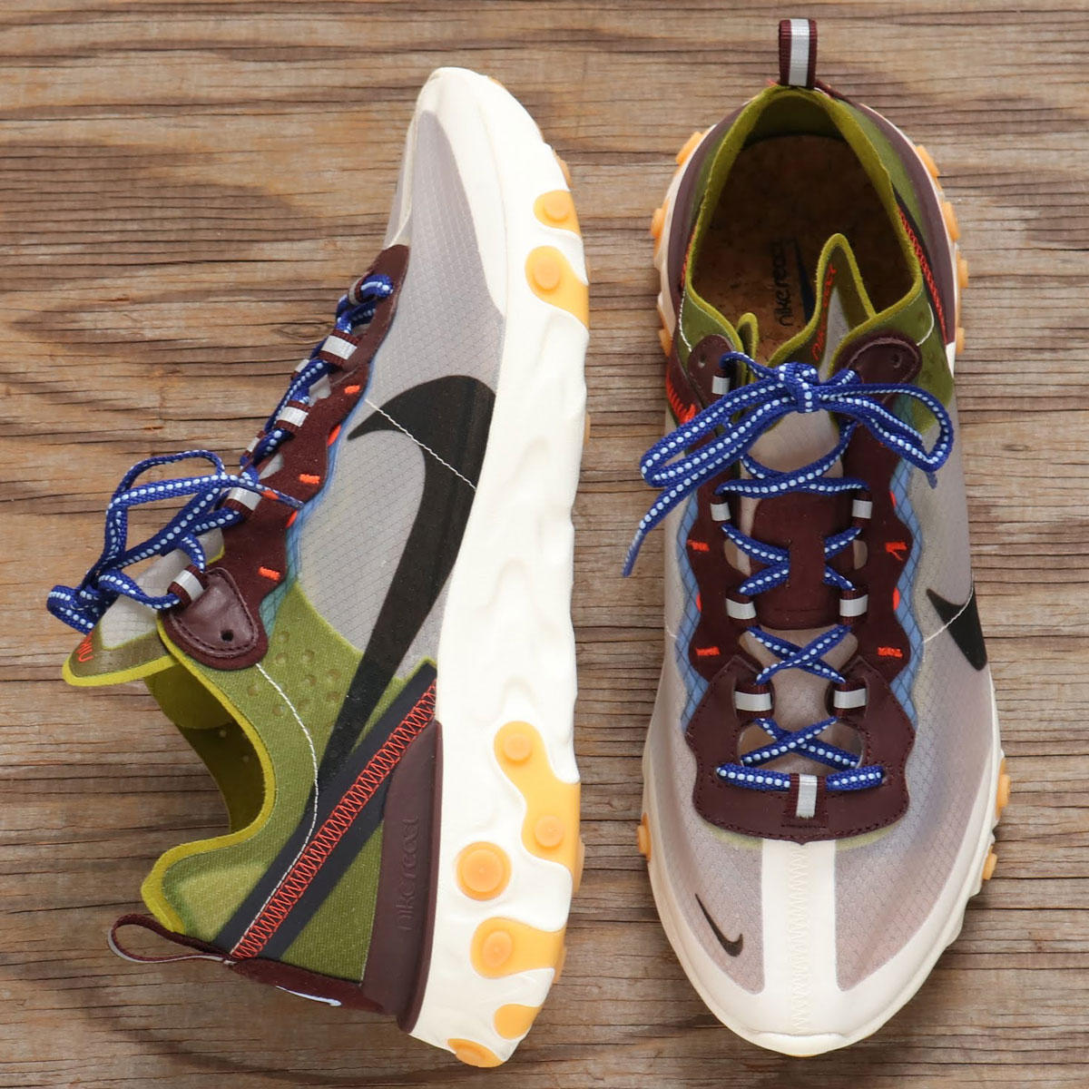 extremidades simpático triángulo  Nike React Element 87 Moss Mens El Dorado Running Shoe AQ1090-300