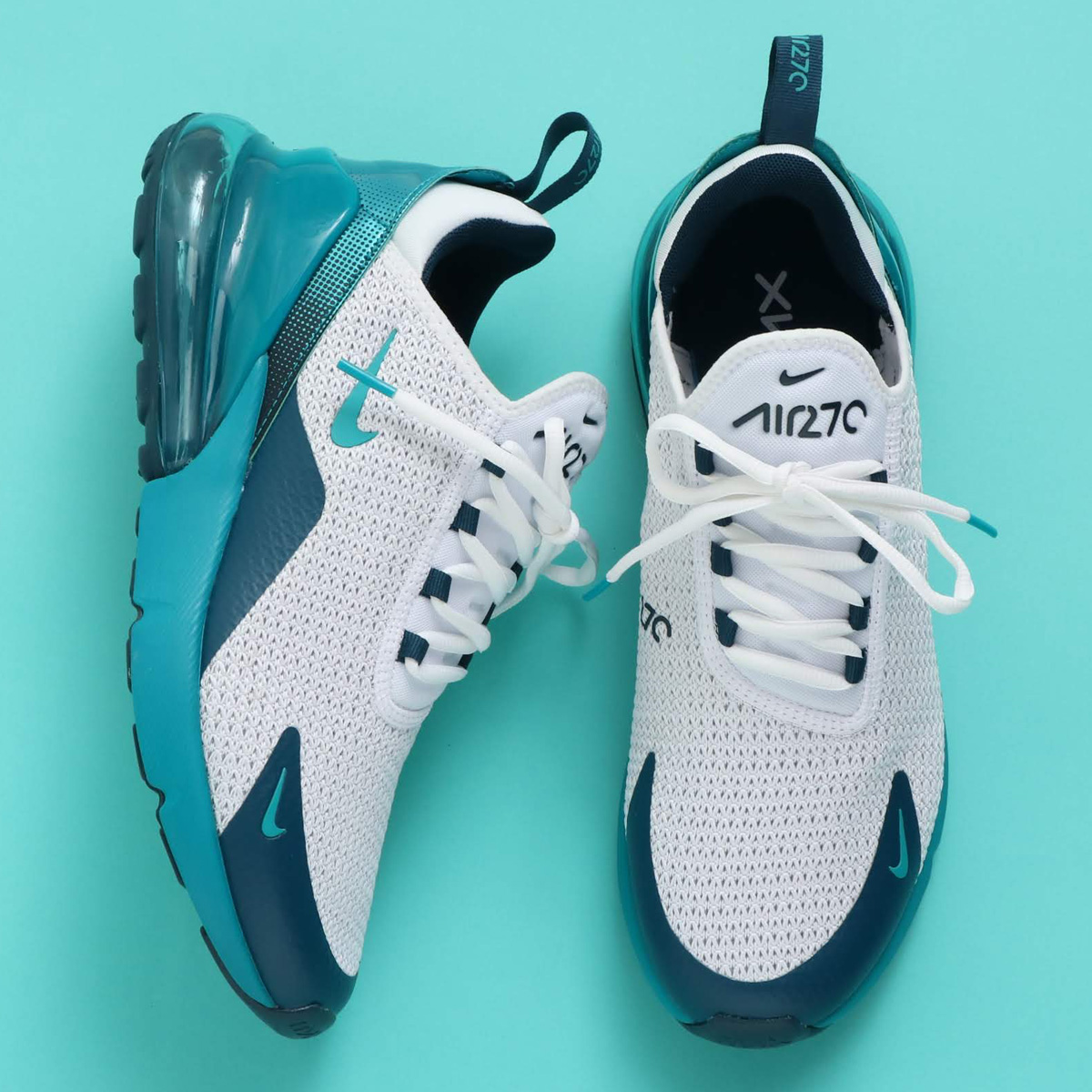 NIKE AIR MAX 270 SE(ナイキ エア マックス 270 SE)WHITE/SPIRIT TEAL-NIGHTSHADE【メンズ スニーカー】19SU-S