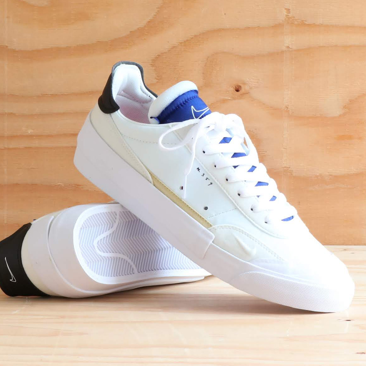 NIKE DROP-TYPE(ナイキ ドロップ タイプ)SUMMIT WHITE/BLACK-WHITE-DEEP ROYAL BLUE【メンズ スニーカー】19FA-S