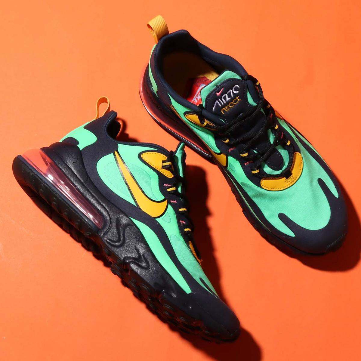 Nike Air Max 270 React Green, Ochre & Obsidian | END.