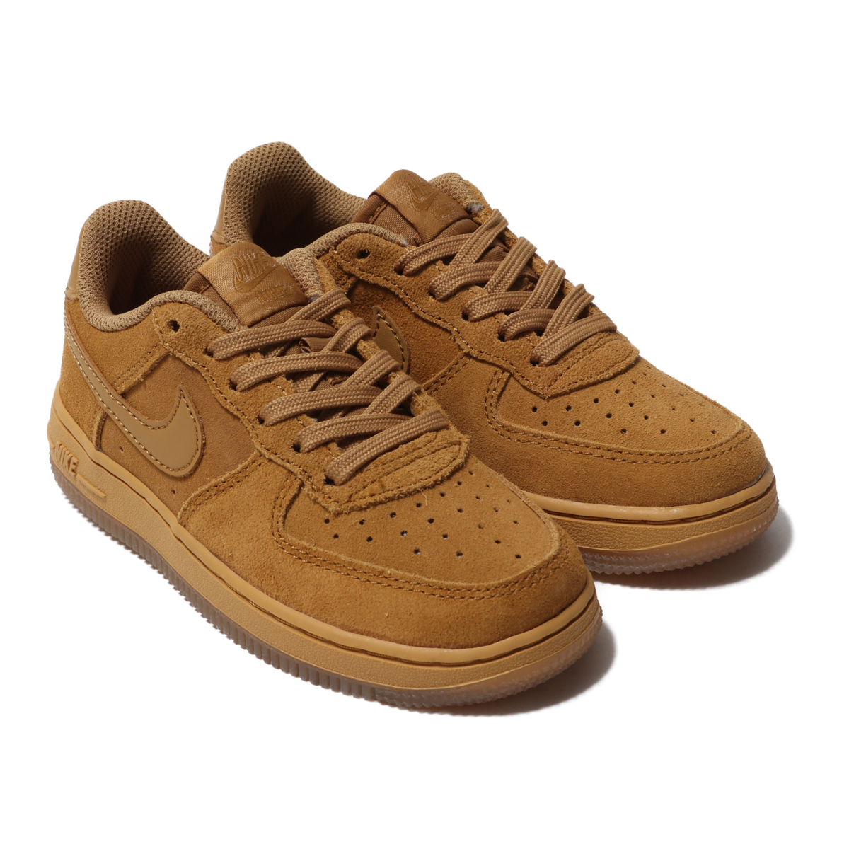 NIKE FORCE 1 LV8 3(PS)(フォース 1 LV8 3 PS) WHEAT/WHEAT-GUM LIGHT BROWN【キッズ スニーカー】19HO-I