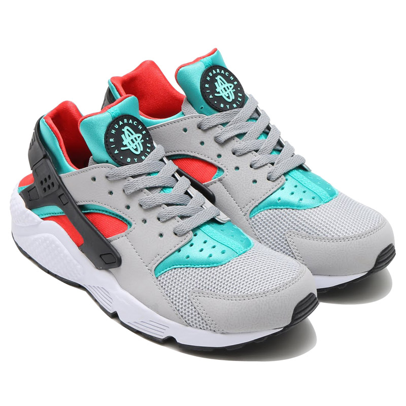 fb5ef8356105 NIKE AIR HUARACHE (Nike Air halti) FLAT SILVER LIGHT CRIMSON-CLEAR  JADE-HYPER TURQ-BLACK-WHITE 16FA-I