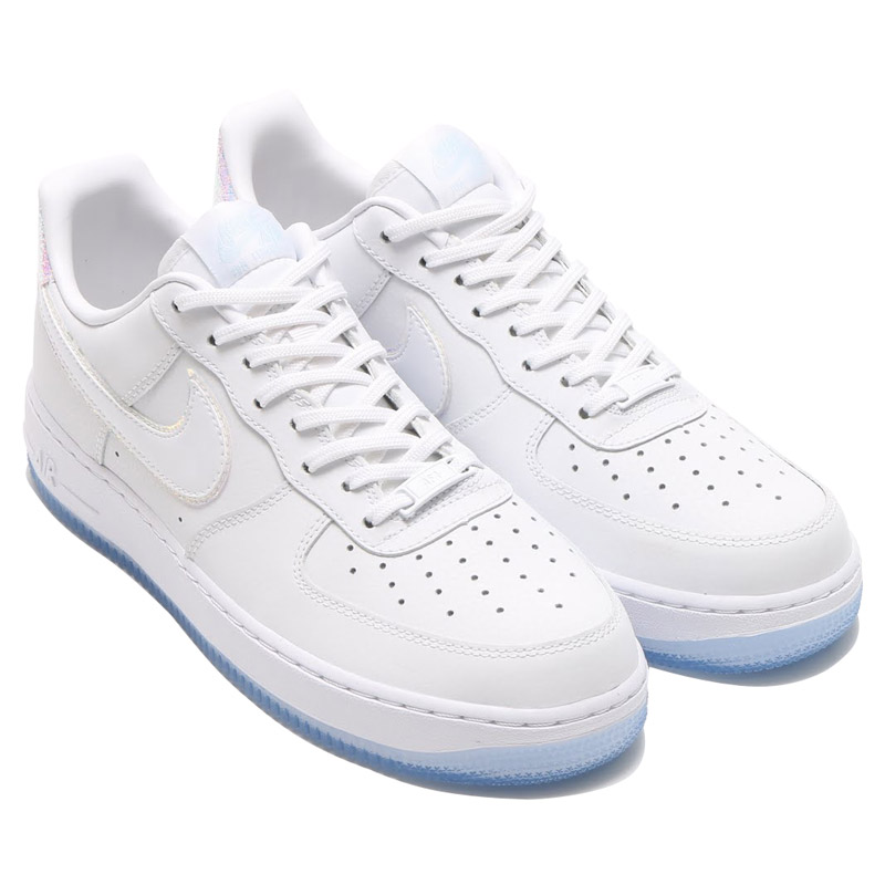 NIKE WMNS AIR FORCE 1 ' 07 PRM (Nike women's air force 1 07 premium) WHITE/WHITE-BLUE TINT 16FA-I
