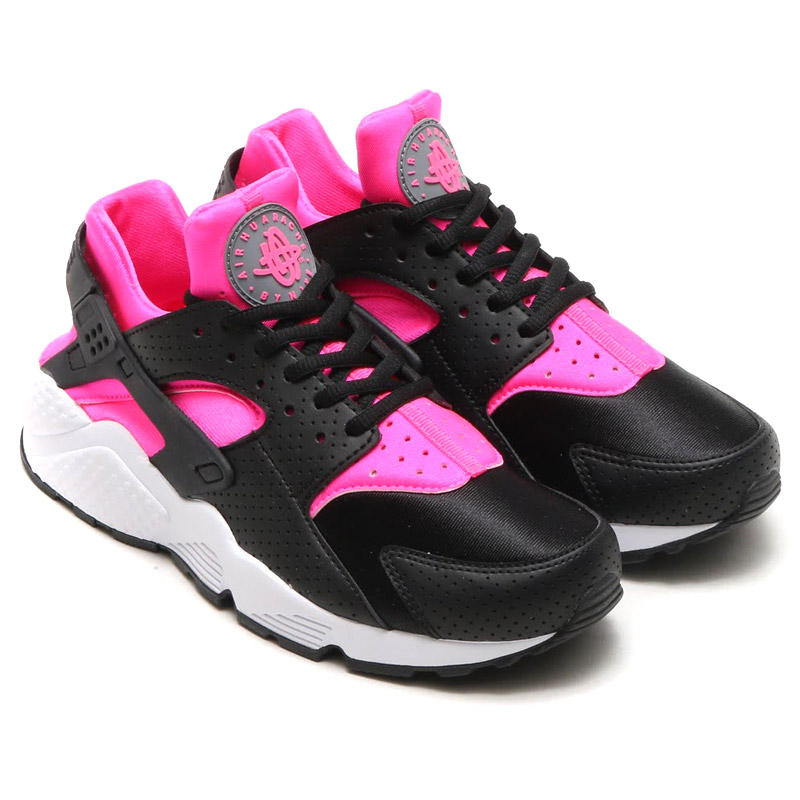 27ad4c67a86a4 NIKE WMNS AIR HUARACHE RUN (Nike wmns air halti run) PINK BLAST BLACK 16SU-I