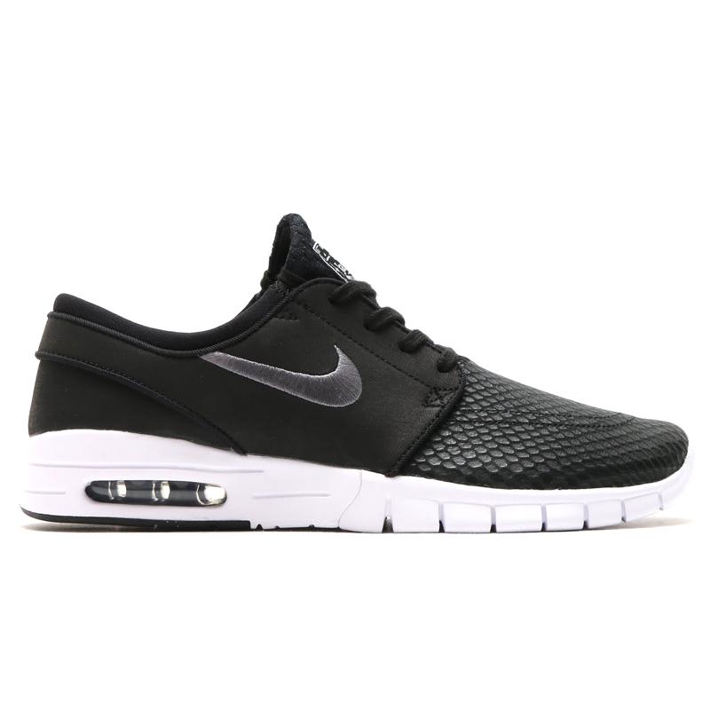 promo code f2429 b4888 NIKE STEFAN JANOSKI MAX L (max Nike Stefan janoski leather) BLACK DARK GREY-WHITE  16SP-I