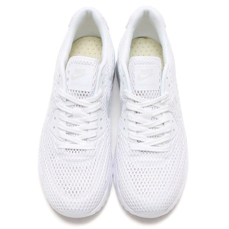 the best attitude 1e427 1b440 NIKE WMNS AIR MAX 90 ULTRA BR (Nike women s Air Max 90 ultra Breeze) WHITE PURE  PLATINUM-PURE PLATINUM 16SU-I