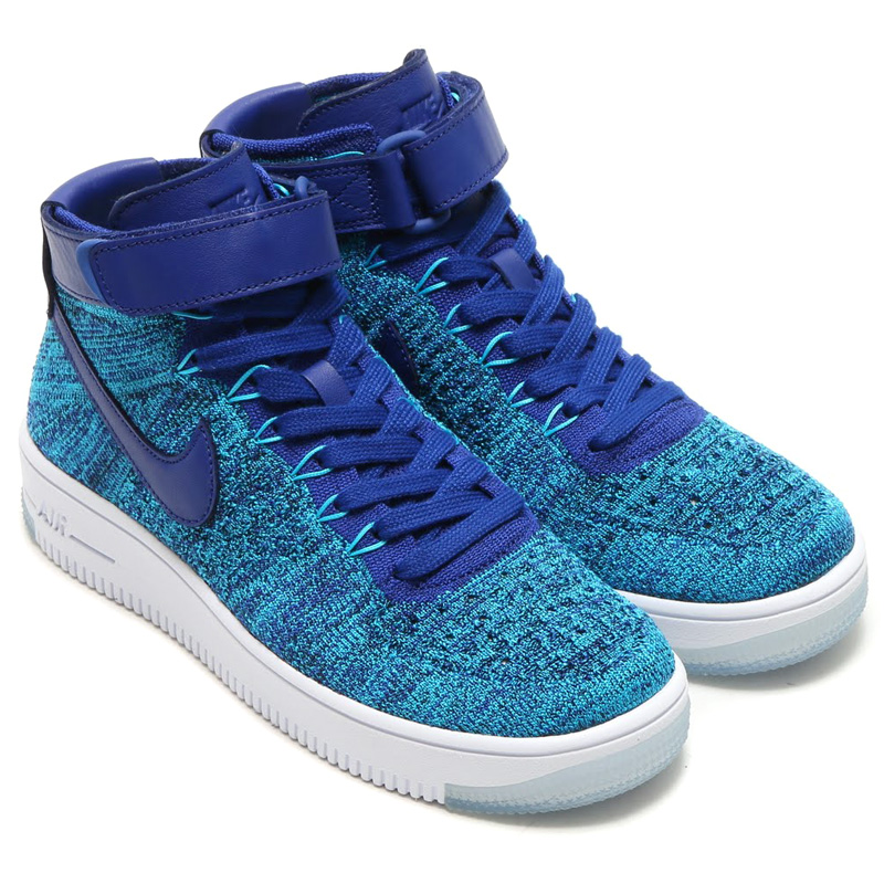 reputable site 57391 79936 NIKE WMNS AF1 FLYKNIT (Nike women's air force 1 Flint) BLUE LAGOON/DEEP  ROYAL BLUE 16SP-I