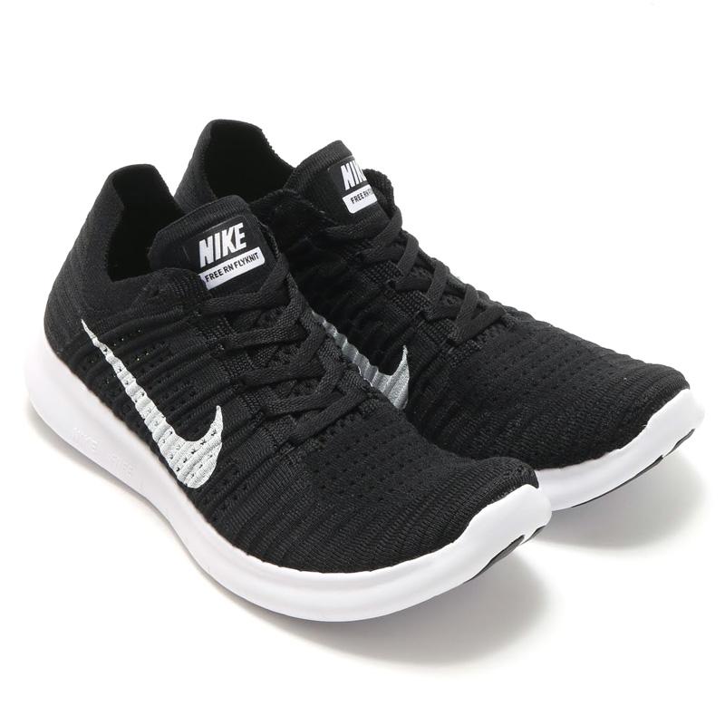 NIKE FREE RN FLYKNIT (Nike free run Flint) BLACKWHITE CRYOVR