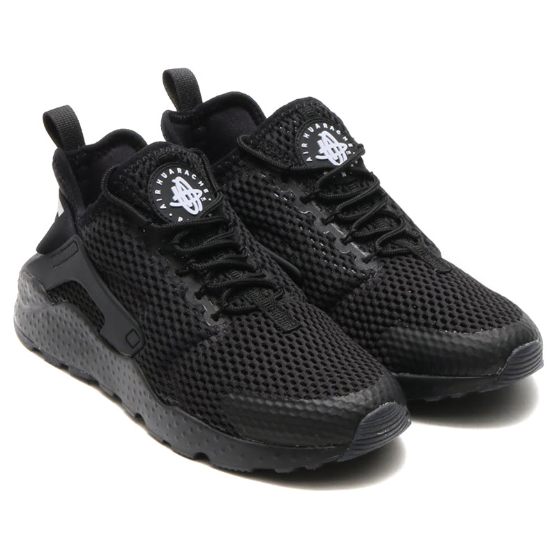 NIKE WMNS AIR HUARACHE RUN ULTRA BR (Nike wmns air halti run ultra Breeze)  BLACK BLACK 16SU-I 9f1a1df5a685